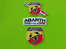ABARTH  PATCH  KIT 3 TOPPE CON TRICOLORE RICAMATE TERMOADESIVE