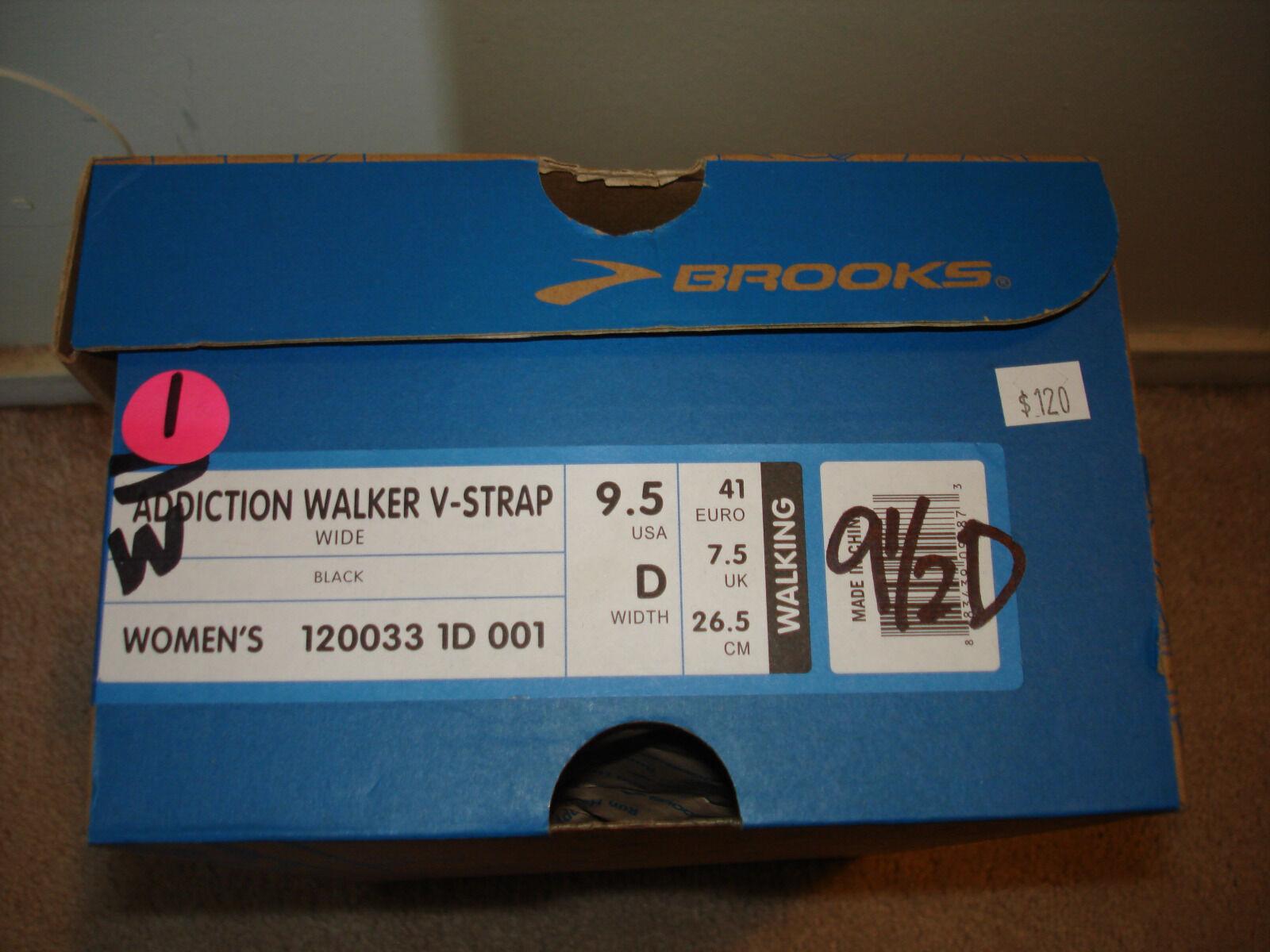 Brooks femmes Addiction Walker V-Strap Walking Athletic Chaussures noir 120033