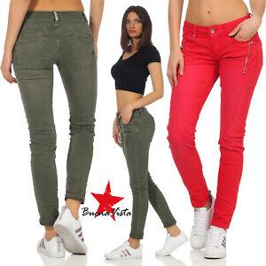 Buena Vista Damen Jeans Malibu-Zip K Stretch Twill Hose Trousers Reißverschluss