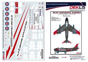 1-48-Canadair-Sabre-RCAF-Sky-Lancers-Aerobatic-Team-Post-1956-Decal
