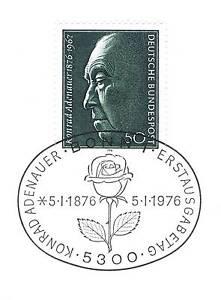 Rfa 1976: Konrad Adenauer Nº 876 Avec Propre Bonner Ersttags Cachet 1 A! 1904-l 1a! 1904afficher Le Titre D'origine