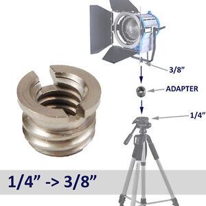 F-amp-V-PRO-1-4-034-Female-to-3-8-034-Male-Conversion-Tripod-Head-Thread-Adapter-Screw
