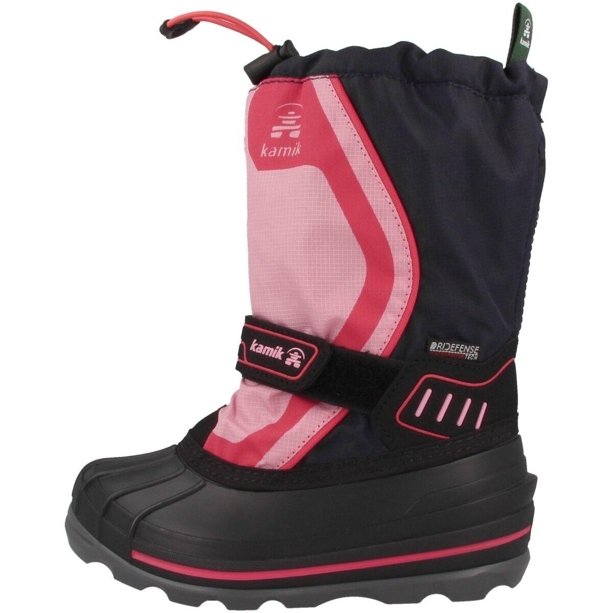 Kamik snowcoast 4 Bambini Scarpe Stivali Invernali Stivali Stivali NAVY PINK nk8852-nav