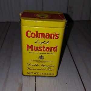 Vintage Colman's English Dry Mustard Tin  2 oz