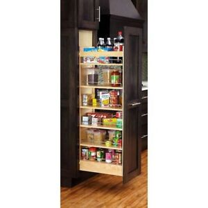 Image Is Loading Pull Out Wood Tall Cabinet Pantry Organizer Soft