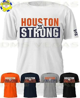 big sale 09696 a23d0 Houston Astros Houston Strong Justin Verlander 35 Jersey Tee T Shirt Men  S-5XL | eBay