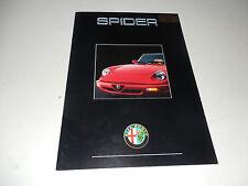 Alfa Romeo 1990, 1991 European Spider English Langauge Sales Brochure