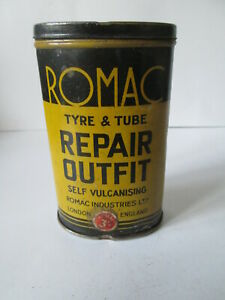 Romac-tyre-and-tube-repair-outfit-tin-Michelin-goodyear-Dunlop