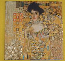 4 stück Servietten Gustav Klimt Serviettentechnik Adele Bloch-Bauer Kunst