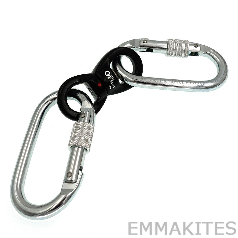 Super Safe Lyra Hardware Kit Set Steel Carabiner with Swivel  Aerial Dance Hoop  negozio online