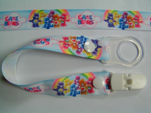 Mam Dummy Clip A Colourful Bears Gorgeous Dummy Strap Pacifier new