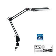 Schreibtisch Funktionsleuchte schwenkbar Bürolampe Tischleuchte Schwarz JOHAN