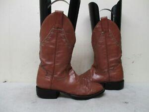 589e01fa972 Details about PANHANDLE SLIM Mauve Leather Vintage Cowboy Boots Womens Size  4 B Style 52122