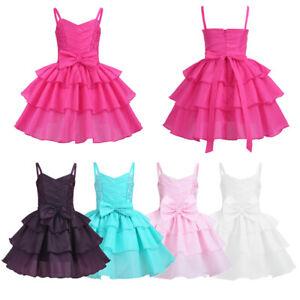 875ef78deeb65 Baby Girls Bridesmaid Dress Kids Flower Girl Wedding Birthday Party ...