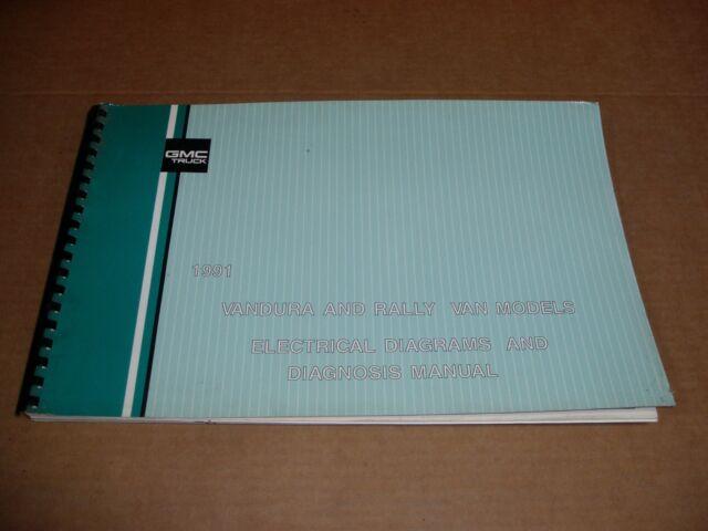 1991 Gmc Vandura Rally G1500 G2500 G3500 Van Wiring Diagrams Service Shop Manual