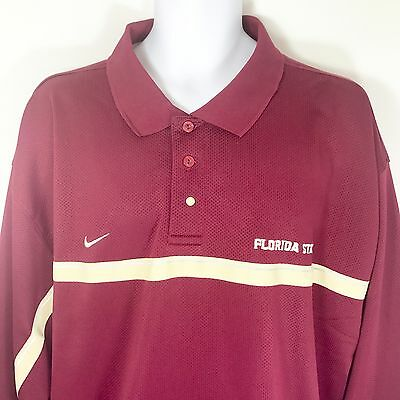 Florida State Seminoles Polo Shirt Nike Team Authentic Sphere Dry Mens 3XL NWOT
