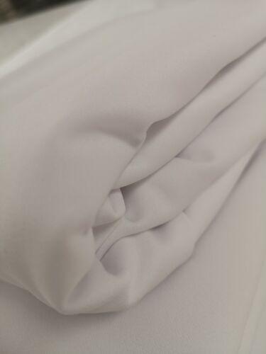 4 metros de tela blanca Scuba Crepe