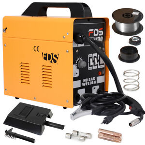 Ampere-Schweissgeraet-MIG-130-Elektrodenschweissmaschine-Fuelldrahtschweissgeraet
