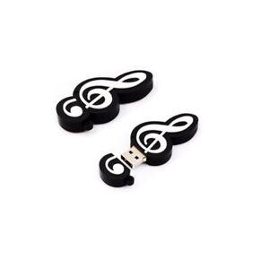 usb stick 16gb speicherstick geschenk notenschlüssel clef schwarz musik | ebay