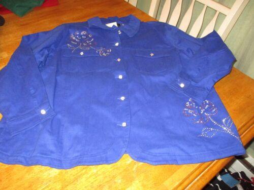 Quacker Factory QVC Womens 2X  Jacket Limited Edition Rhinestone NWT CHOSE COLOR