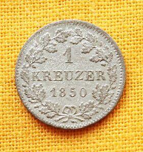 German States - Bayern Silver 1 Kreuzer 1850. - Graz, Austria, Österreich - German States - Bayern Silver 1 Kreuzer 1850. - Graz, Austria, Österreich