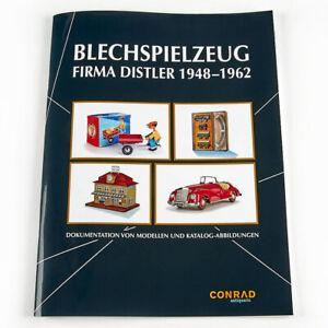 Broschuere-Katalog-Abbildungen-Fa-Distler-1948-1962-Blechspielzeug-Zugsets-Autos
