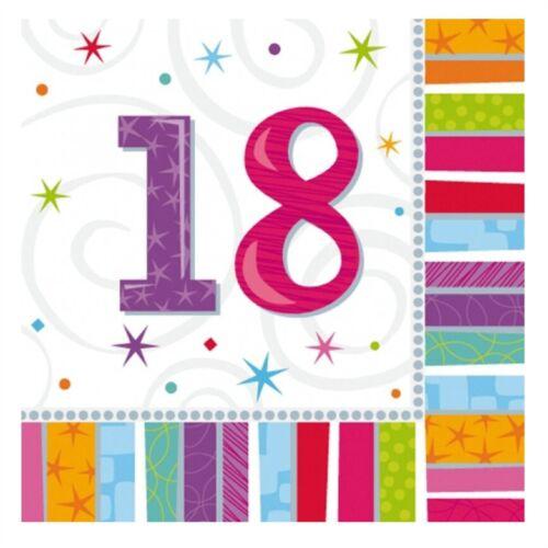 18th 3ply 16 papel Almuerzo Servilletas radiante Servilletas Vajilla De Fiesta De Cumpleaños