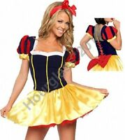 Snow White Ladies Fancy Dress Short Fairy Tale Adult Costume Sexy Fantasy Outfit