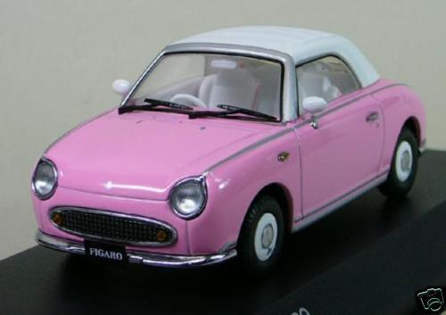 Nissan FIGARO 1 43 1 43 DieCast Model Closed PINK Kyosho 336 pc, RARE NEW