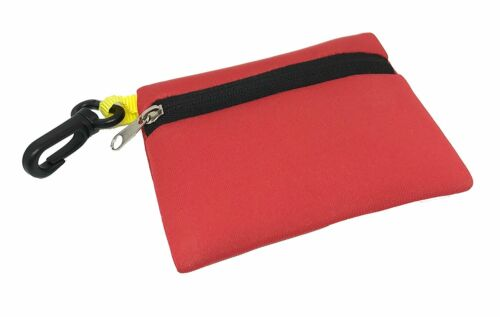 Red Floating Neoprene Wallet with Zipper /& Hook for Fishing Boating Beach