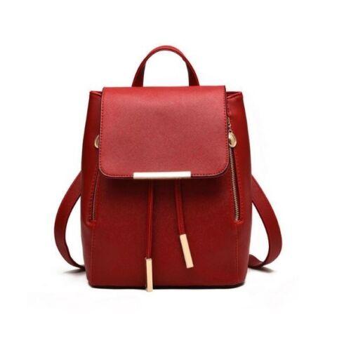 Fashion High Quality Leather Women Backpack Mochila Escolar Girls School Bags