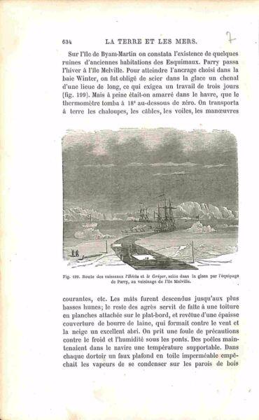 Admiral William Parry Explorer Île Melville Island Gravure Antique Print 1874 Adopter Une Technologie De Pointe