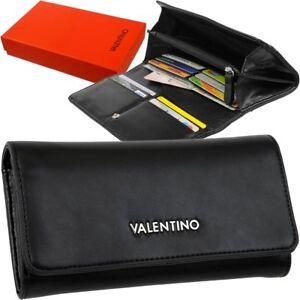 VALENTINO Damen-Geldbörse Portemonnaie Geldtasche Geldbeutel Brieftasche Schwarz