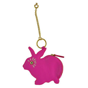 NWT-Marc-by-Marc-Jacobs-Rabbit-Bunny-Zip-Coin-Bag-Pouch-in-Pop-Pink
