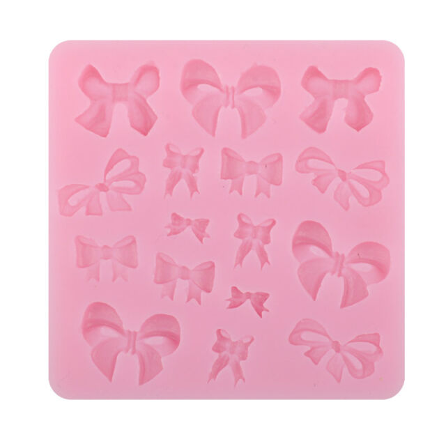 3D DIY Bowknot Fondant Cake Chocolate SugarCraft Mold Cutter Silicone Tools New