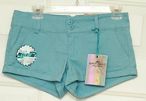 Almost-Famous-Womens-Blue-Shortie-Shorts-Size-5