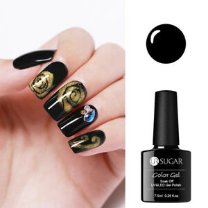 UR-SUGAR-7-5ml-Black-Base-Blossom-Gel-Nagel-Kunst-Soak-Off-UV-Gellack-Varnish