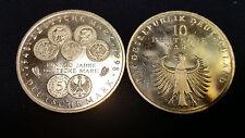 """10 DM Gedenkmünze """"50 Jahre Deutsche Mark"""" 1998 - F"""