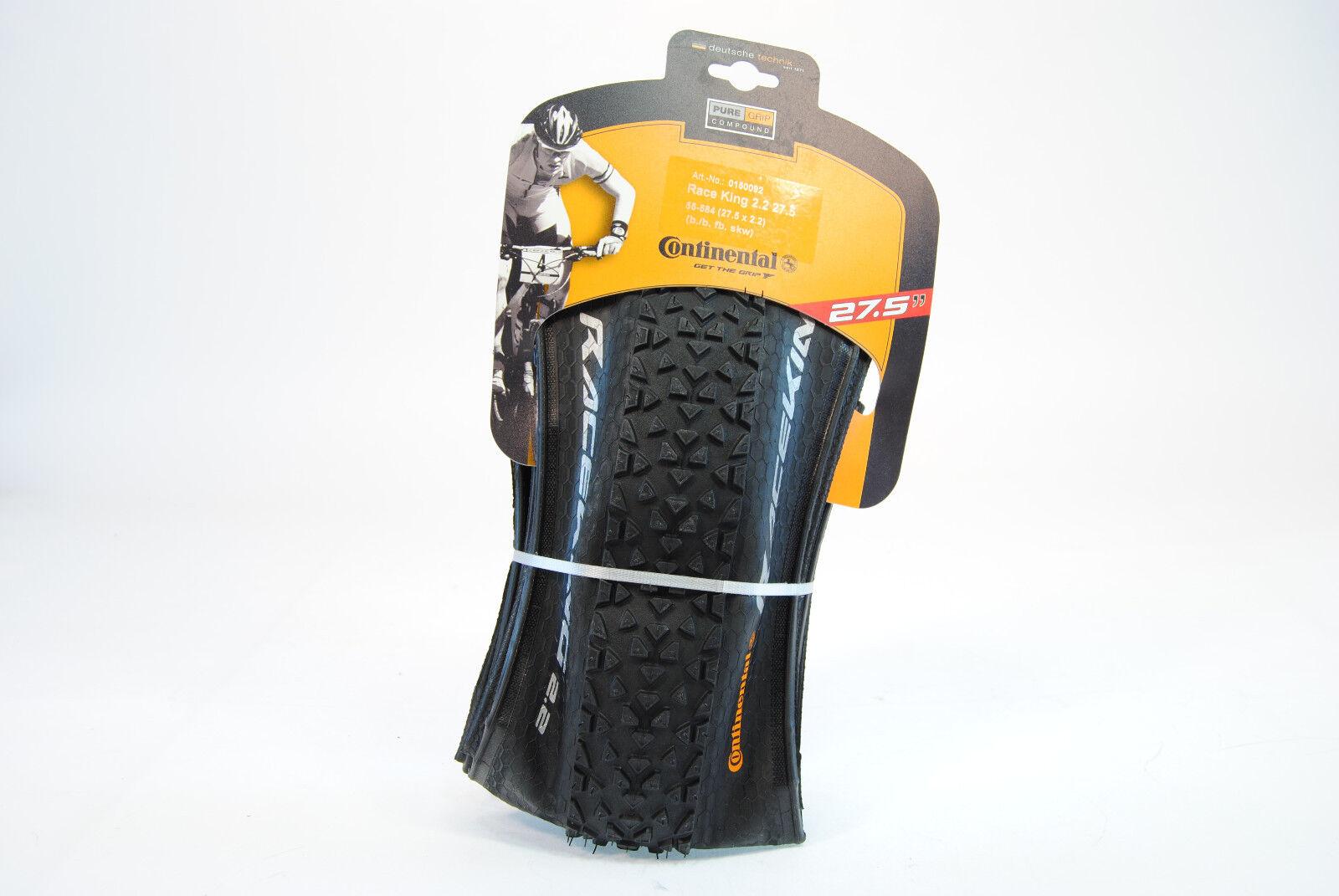 Continental Race King Tubeless 27.5 X 2.2  Folding Mountain Bike Tire 585g