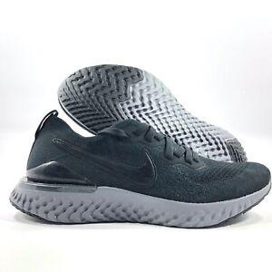 Nike-Epic-React-Flyknit-2-Black-White-Gunsmoke-Grey-BQ8928-001-Mens-8-Womens-9-5