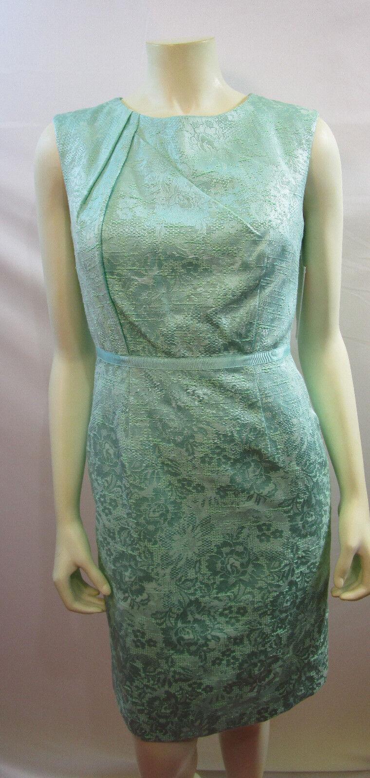 Katherine Kelly Ellen Blaumenmuster Kleid Größe 4 Neu mit Etikett