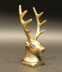 Antique-Style-Brass-Elk-Deer-Stag-Pen-Holder-Desk-Stand