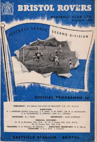 BRISTOL ROVERS V BLACKBURN ROVERS 2ND DIVISION 24955