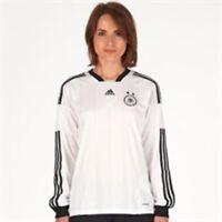Adidas Womens Size 12 / 14 Dfb Germany Long Sleeve Home Shirt White/black/gold
