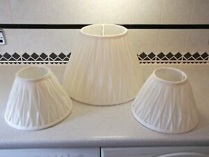 Details About Dunelm Ivory Light Shades