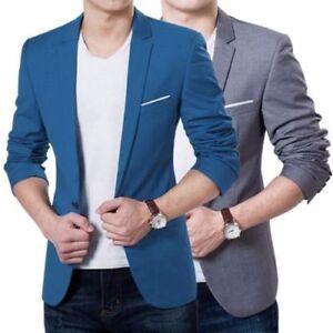 Men-Formal-Wedding-Bridegroom-Suit-One-Button-Slim-Fit-Jacket-Tuxedos-Coat