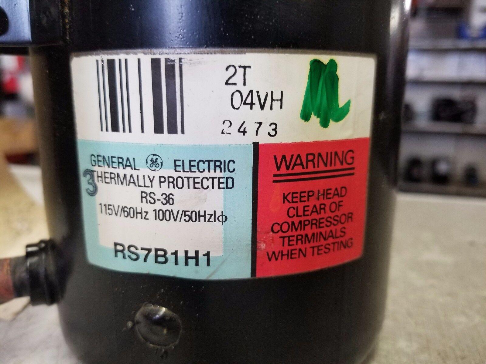 115//1//60 R-12 REFRIGERATOR COMPRESSOR GE RS7B1H1 RS-36