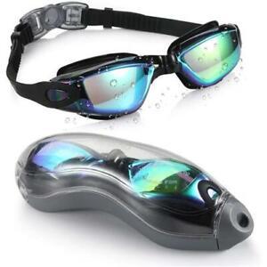 Olympic Nation Pro Swim Goggles Aqua with Clear Vision UV Shield Anti-Fog