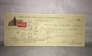 Tell-City-Coca-Cola-Coke-Bottling-Co-Check-639-December-17-1948