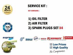 Ol-Filter-Luft-4x-Zuendkerzen-fuer-Kia-Rio-III-Limousine-1-25-CVVT-2011-gt-Auf